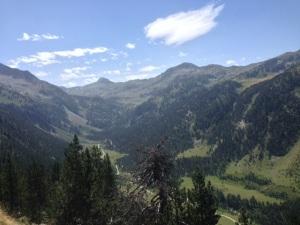 Valle del Ruda desde la subida al Puerto de la Bonaigua.
