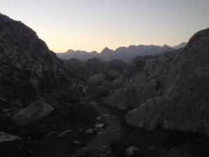 Vista mañanera desde el refugio de Certascán.