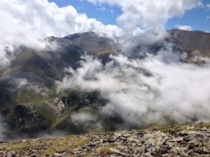La niebla subiendo en el Col d'Eyne.